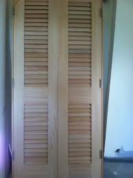 popular rustic louvered closet doors style