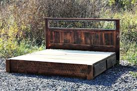 rustic platform beds with storage. Reclaimed Wood Storage Bed Custom Made Rustic Platform In Solid Oak And Wrought Beds With S