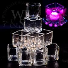 12 pack 2 square glass votive candle holder clear clear