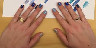 The Beauty of Life: My Happy Hanukkah Nail Art: A Blue Ombre Manicure