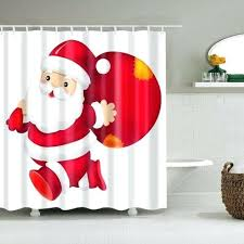 santa shower curtain white backdrop with gift bag shower curtain santa suit shower curtain santa belt