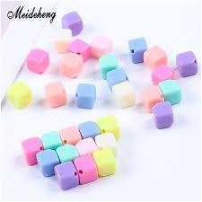 colored acrylic cubes elegant photos soild acrylic square cube beads for jewelry making single hole diy