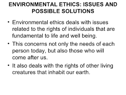 social issues and the environment environmental ethics