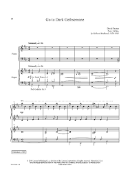 gethsemane sheet music go to dark gethsemane sheet music music for piano and more