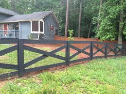 Painted Fences crossbuck wood fence painted black wood fences pinterest 2747 by xevi.us