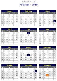 Calendar 2019 Printable With Holidays Pakistan 2019 Printable Holiday Calendar Printable Hub