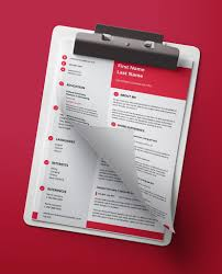 Icon Red Modern Double Page Cv Resume