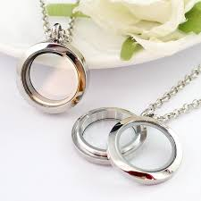 sparkle 30mm floating locket necklace