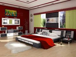 modern bedroom red. Modern Bedroom Cabinet Designs Brown Floor Red Wall Gray Leather Bench Charming Wooden Jacobean Legs I