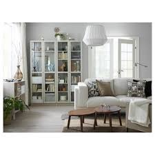 Bookcase Table Billy Bookcase With Doors Beige 80x30x202 Cm Ikea