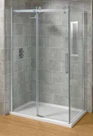 mere bravo 1200mm x 760mm sliding frameless shower enclosure 8mm thick glass door