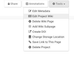 Edit Wiki Wikis Synapse Documentation