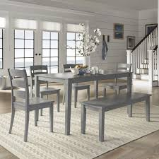 Wilmington II 60-Inch Rectangular Antique Grey Dining Set by iNSPIRE Q  Classic
