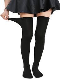 plus size thigh high socks zando women plus size strechy thin over knee tights socks fashion