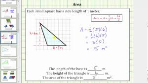 Determine The Area Of An Obtuse Triangle On A Grid Youtube