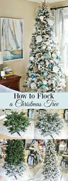 Flocked Christmas trees are so pretty aren't they? Learn How to Flock a