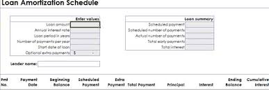 download amortization schedule amortization schedule template