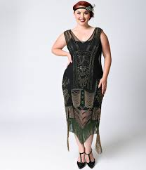 Shop 1920s Plus Size Dresses and Costumes | Fringes, Flappers and ...