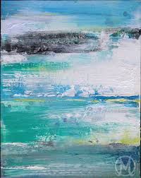 abstract art painting ocean colors yellow blue melody owens