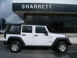2012 bright white clearcoat jeep wrangler unlimited sport 4 door 3 6l v6 engine 4x4 suv