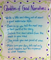 best personal narrative images handwriting ideas  narrative writing anchor chart qualities of good writing