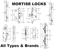 sliding door mortise lock replacement storm door mortise lock storm door
