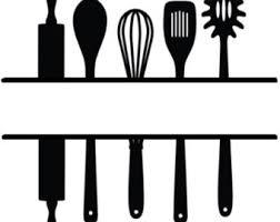 kitchen utensils split silhouette.  Split 340x270 Kitchen Utensils Etsy And Utensils Split Silhouette P