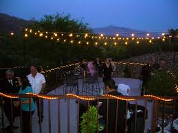 image of decorative outdoor party string lights