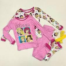 Disney Princess Nwt Size 4 6 10 Long Sleeve Pajamas 2 Pair 4 Piece Set Ebay
