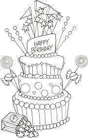 Happy Birthday Cake Drawing At Getdrawingscom Free For Personal