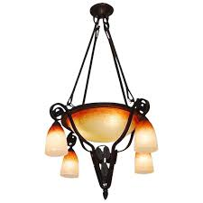 charles schneider french art deco chandelier 1925
