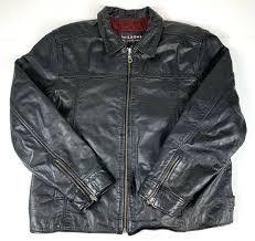 wilsons leather biker jacket thinsulate black men s large used d1 from wilsons leather