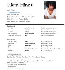 Performance Resume Simple Resume Kiara Hines
