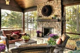 back porch fireplace gas screened covered cost per square foot with in screen firepl