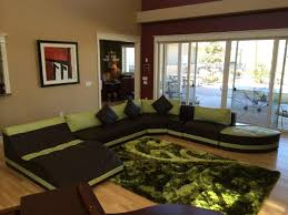 green black mesmerizing: living room u shaped black green leather extra large sectional sofas with backrest and square