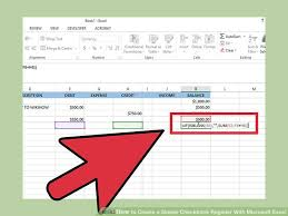 How To Make A Checkbook Register In Excel How To Create A Simple Checkbook Register With Microsoft Excel