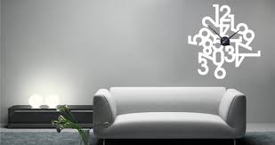 clock wall sticker time is of the