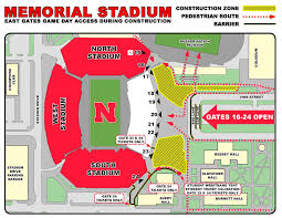 Nebraska Cornhuskers Stadium Seating Chart Stadium Construction Roundabouts Are New For Saturday