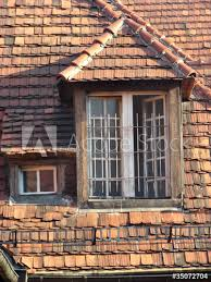 old wooden windows with grids