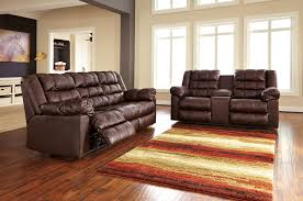 Reclining Living Room Set Buy Ashley Furniture Brolayne Durablend Saddle Reclining Living