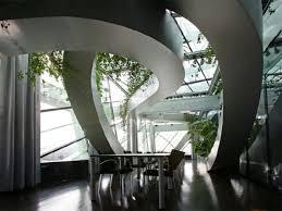 panoramic garden of ccis amazing office interiors