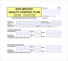 Site Plan Template 8 Quality Control Plan Template Word Pdf Free