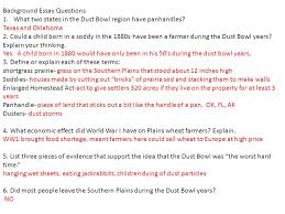 what caused the dust bowl ppt video online   the dust bowl years no background essay questions