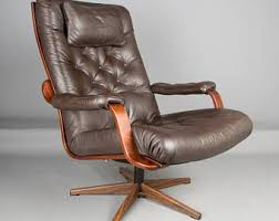 norwegian vintage office chair. A Danish Westnofa Style Swivel Chair, C1970s Retro Office Chair Mid Century In Brown Leather Norwegian Vintage M
