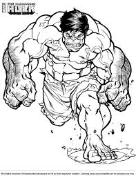 Small Picture Hulk Coloring Picture