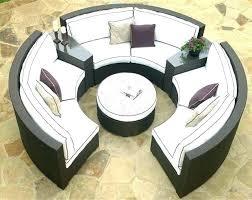 semi circle patio furniture semi circle patio furniture circular outdoor seating innovative semi circle patio set