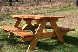 round wood picnic table inspirational diy solid