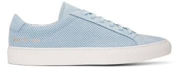 Common Projects Shoe Size Chart Common Projects Blue Suede Achilles Summer Edition Sneakers