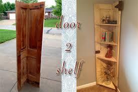 Building Corner Shelves DIY Why Spend More Another Door Turned Corner Shelf 72