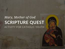 Mary Scripture Quest Bible Worksheet For Catholic Youth